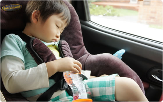 車で寝るときまで